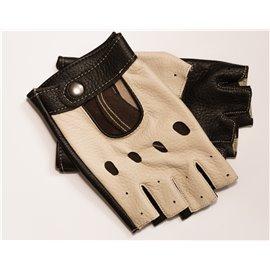 Rękawiczki skórzane bez palców, skóra z jelenia 24