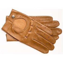 Rękawiczki skórzane samochodowe brąz 24