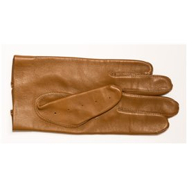Brown leather car gloves 24