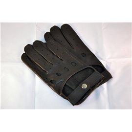 Rękawiczki skórzane krótkie czarne 23