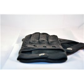 Short black leather gloves 23
